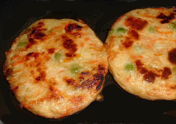 Chicken Tempura Pancakes