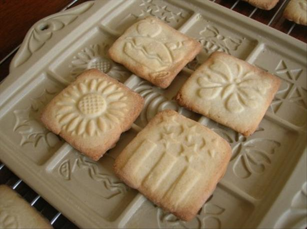 Sugar Cookies for Ceramic Cookie Molds
