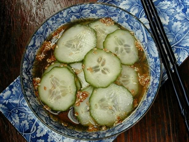 Green Tea Marinated Cucumbers