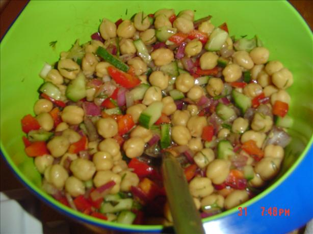 Low Fat Chickpea Salad (Kosher-Pareve)