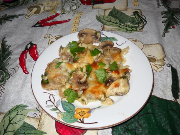 Mushroom Gratin