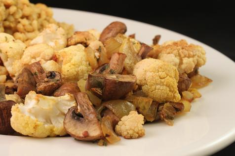 Roasted Cauliflower and Mushrooms