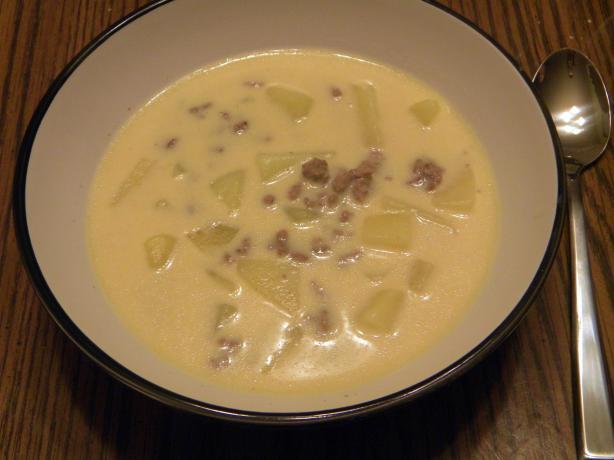 Cheesy Hamburger Potato Soup (Crock Pot)