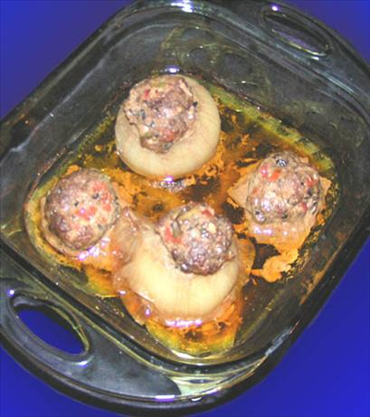 Elswet's Sausage-Stuffed Onions