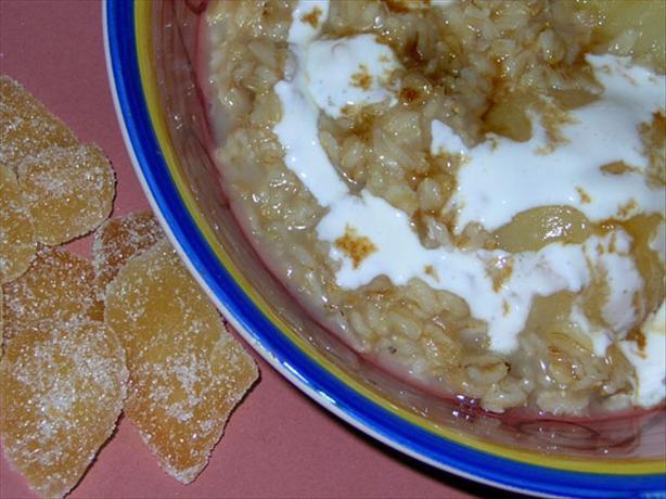 Decadent Tasting Ginger Pear Oatmeal