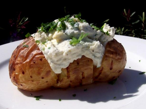 Baked Potato With Ricotta