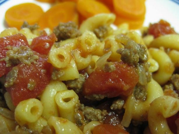 Quick Beef With Macaroni