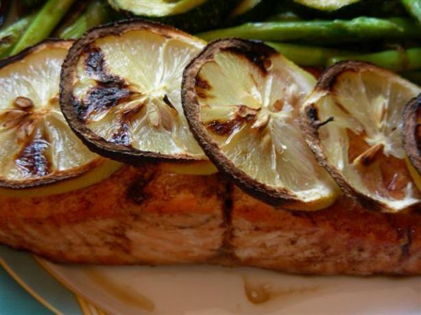 Pan Seared Lemon-Soy Salmon