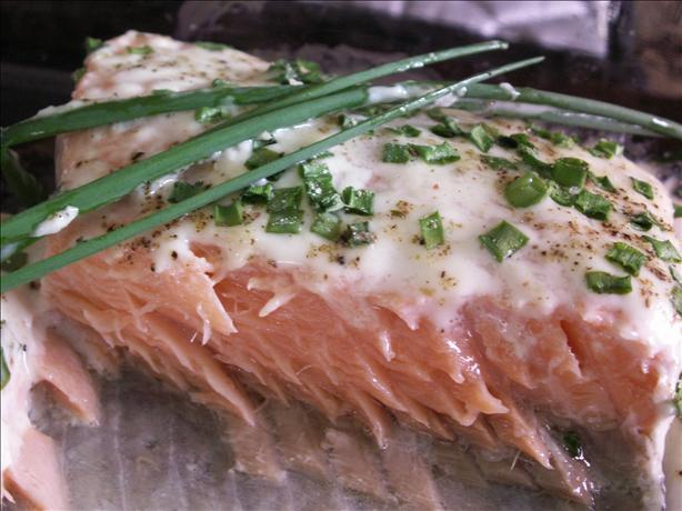 """Salmon With Horseradish """"Cream"""""""