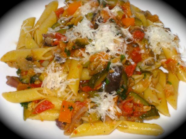 Vegetable Ratatouille With Pasta