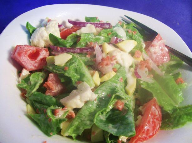 Potluck Cauliflower and Lettuce Salad