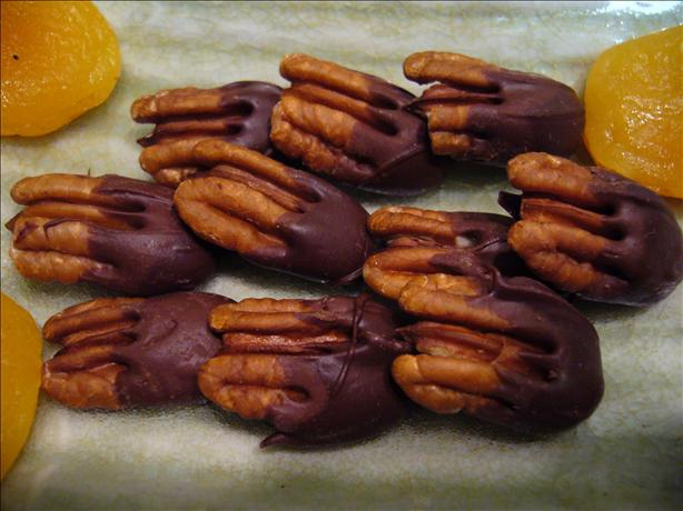 Chocolate-Dipped Pecans
