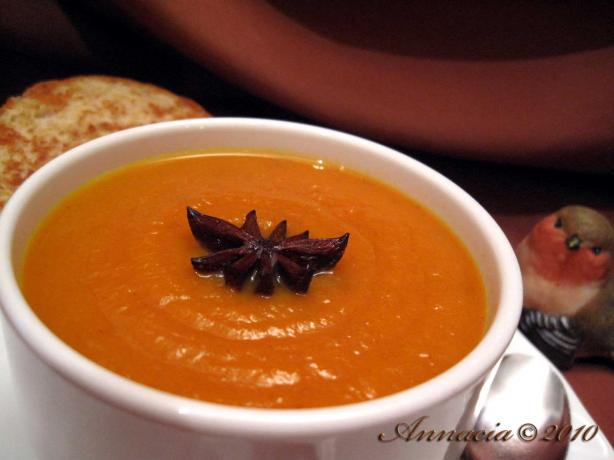 Creamy Carrot Soup With Star Anise