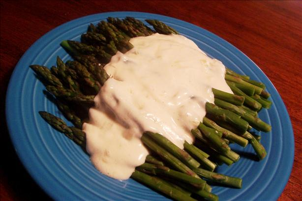 Asparagus With Creamy Mustard Onion Sauce