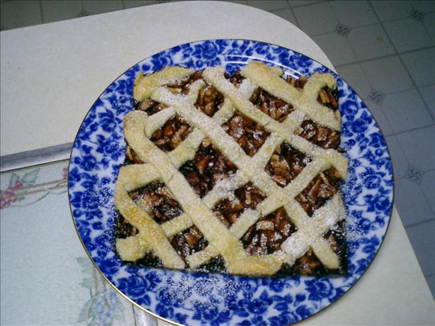 Apple Raspberry Lattice Cake