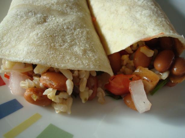 Rock 'n' Mole Veggie Burritos