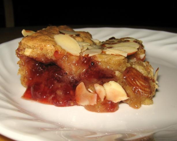 Strawberry Almond Slice