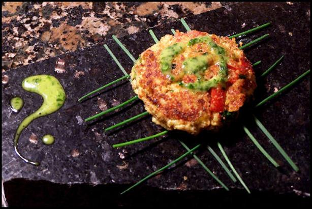 Moroccan-Spiced Crab Cakes