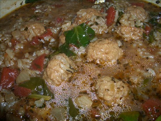 Parmesan Meatball Soup