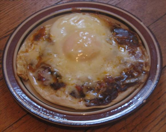 Egg Mole Tostada