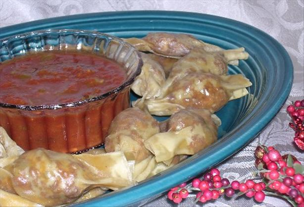 Ww 5 Points - Mexican Beef and Cheese Wontons With Salsa