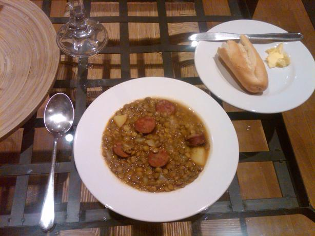 Spanish Lentil Soup With Chorizo