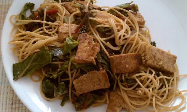 Swiss Chard & Baked Tofu