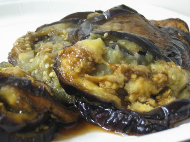 Steamed Eggplant With Garlic and Chilli