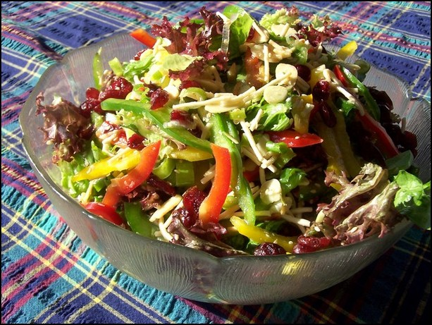 Pretty Bell Pepper Party Salad