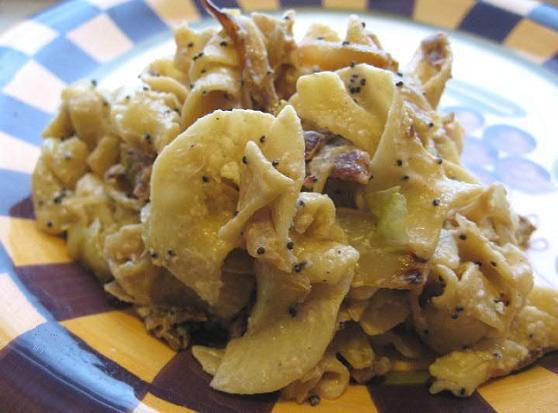 Noodles Mit Cabbage Und Bacon