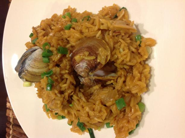 Vongole Mediterranio (Baked Clams & Rice With Saffron)
