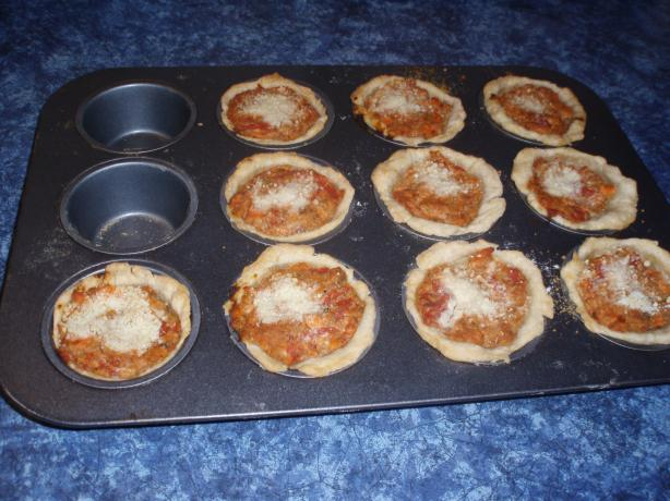 Salmon and Tomato Tarts