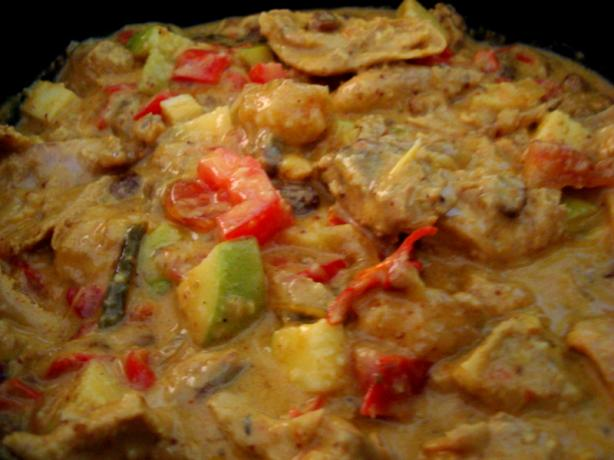 Fast Fruity Chicken Curry. (The All American Way)