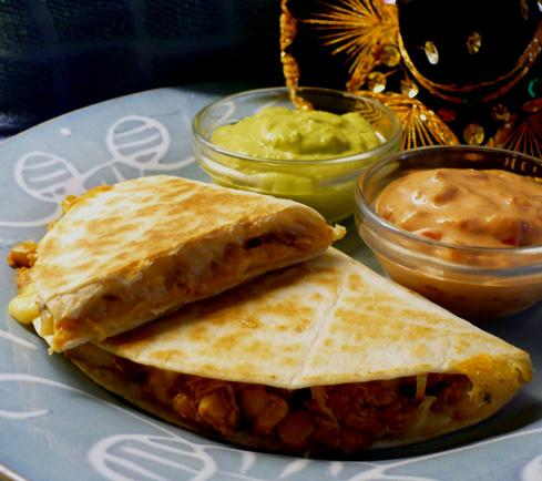 Crockpot Chicken Quesadillas