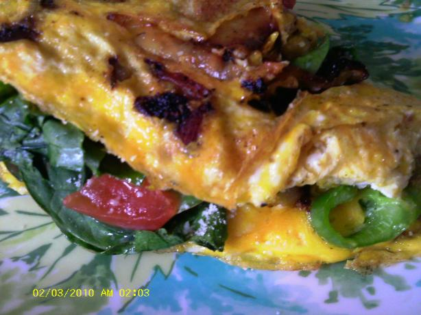 Indian Spinach Cheese Omelet