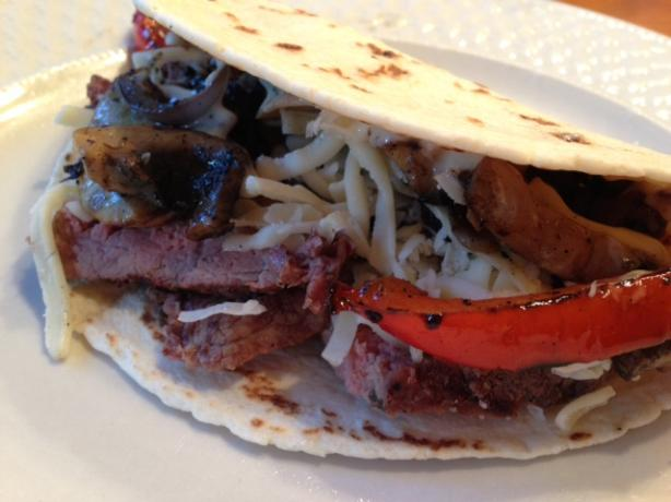 Grilled Philly Cheesesteak Tacos