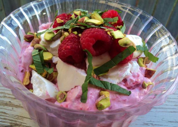 Raspberry and Pistachio Eton Mess