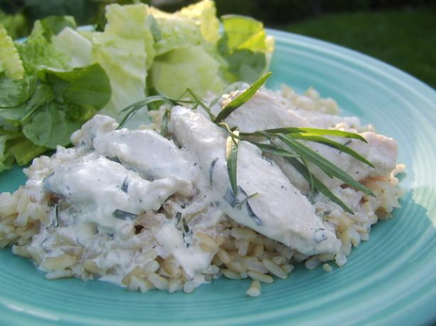 Poached Chicken With Tarragon