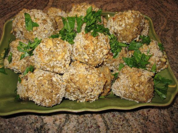 Oven Fried Lentil Balls
