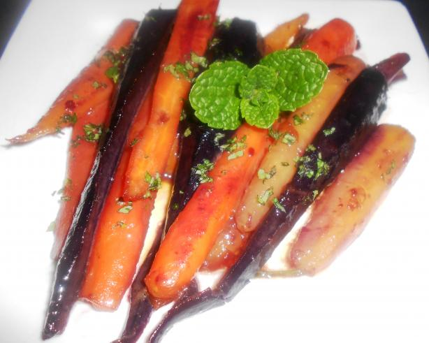 Minted Glazed Carrots