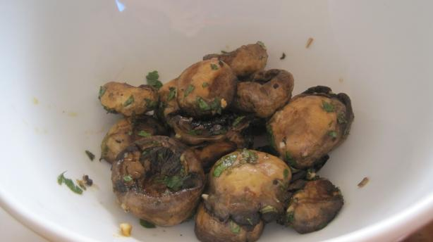 Grilled Mushrooms With Garlic Oil