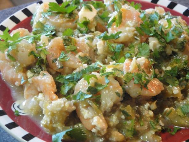Baked Shrimp With Tomatillos