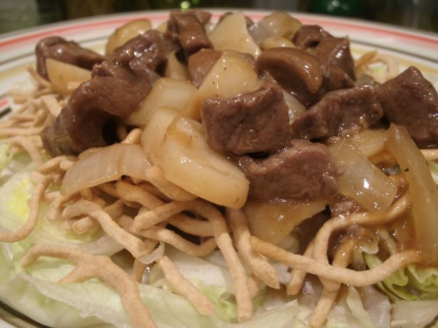 Mongolian Beef over Lettuce