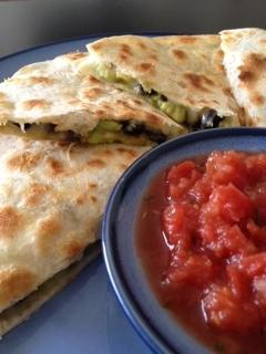 Avocado, Mango and Black Bean Quesadilla