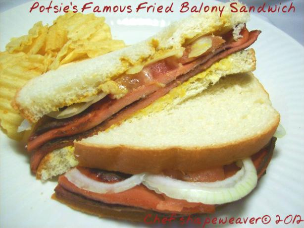 Potsie's Famous Fried Bolony Sandwich