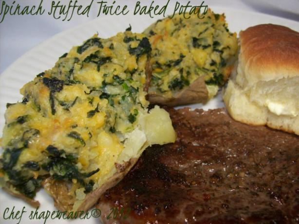 Spinach Stuffed Twice Baked Potatoes
