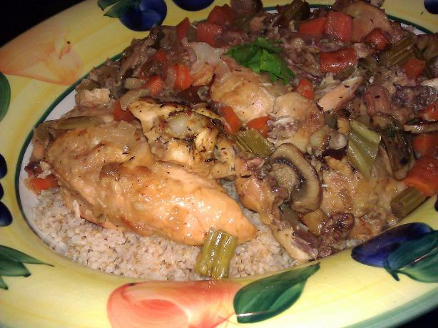 Crockpot French Herbed Chicken