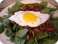 Spinach Salad With Fried Egg