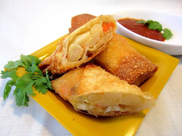 Potato and Shrimp Eggrolls