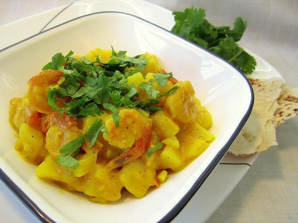 Potato and Shrimp Curry